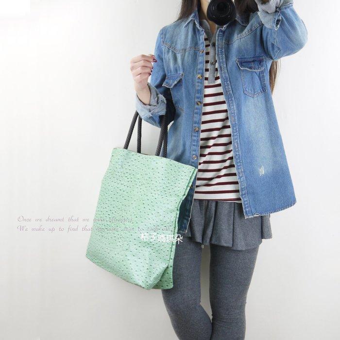 韓國連線 刷舊感 長版 牛仔丹寧布襯衫-桔子瑪琪朵