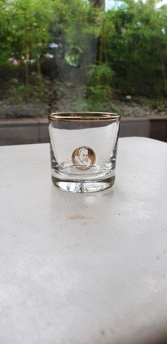 【卡卡頌 歐洲跳蚤市場/歐洲古董】法國老件_魯本斯 金邊水晶雕刻威士忌酒杯 烈酒杯 g0443
