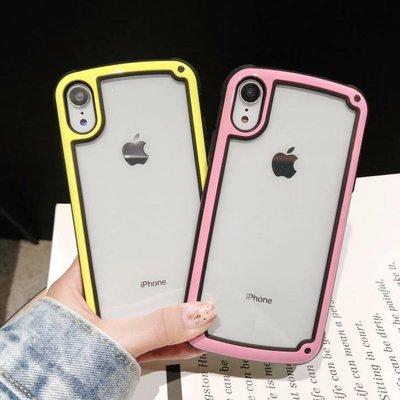 【無殼取代】蘋果 iPhone X/Xs/Max/XR 6/7/8  IPhone8+ 撞色 防摔 透明 手機殼 A11