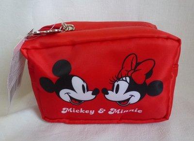 【蜜柑小舖】康是美 米奇米妮系列甜蜜蜜翻轉包 化妝包 收納包 內有裡布夾層袋 現貨商品