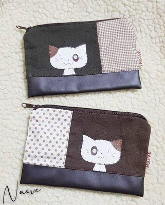 ❈花子日貨❈日本 Naive 貓咪 零錢包 小物包 現貨