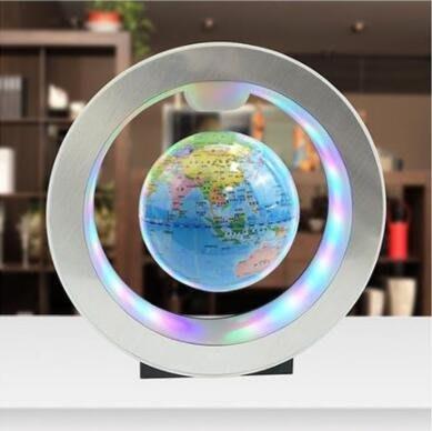 磁懸浮地球儀大號發光自轉家居擺設學生用台燈創意夜燈辦公室擺件  igo