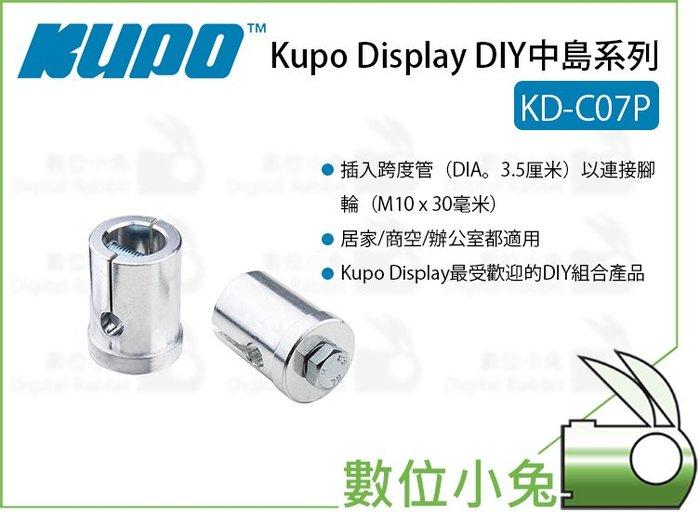 數位小兔【Kupo KD-C07P 鋁合金轉接件-管子底座】DIY中島系列 轉接鋁管 鋁合金轉接 底座轉接 KD-C07