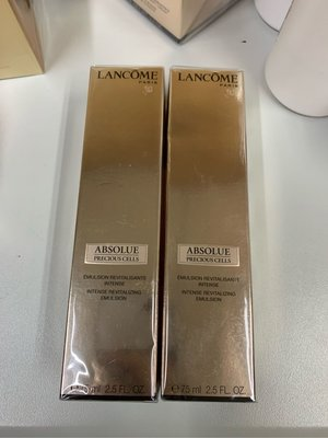 $1000/75ml/lancome ABSOLUE PRECIOUS CELLS INTENSE REVITALIZING EMULSION 玫瑰乳液