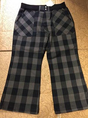 [變身館日本服飾] ~JOUER sux ECHECS~七分褲~束口~直筒~格紋~鬆緊帶~日本購入~全新現品~M~出清價