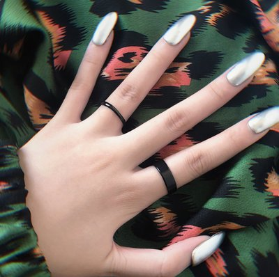 My fit guys 設計款 個性 Unp 暗黑 龐克 細指環 戒指 簡約 街頭 飾品 黑 預購
