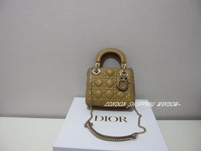 DIOR 小羊皮 Lady Dior Mini Bag 鏈帶 斜背包 側背包 手提包 *倫敦櫥窗*