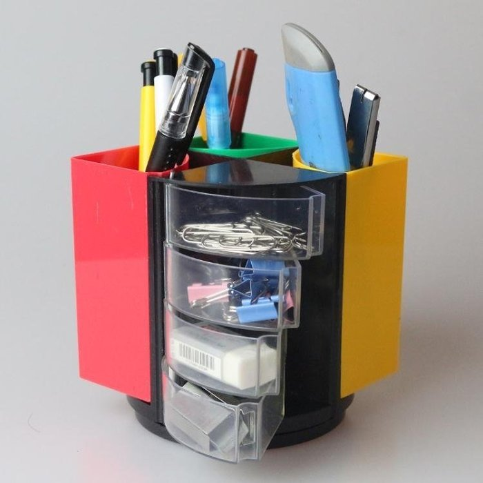 創意時尚學生桌面收納用品多功能筆筒收納盒 LQ2043