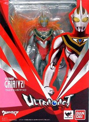 日本正版 萬代 ULTRA-ACT 超人力霸王 蓋亞 V2 可動 模型 公仔 日本代購