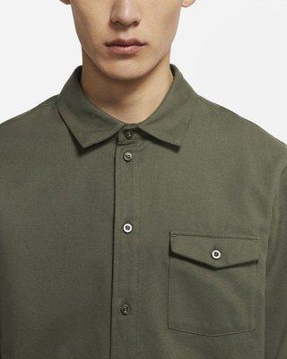 【E.P】NIKE SB FLANNEL 滑板 胸前口袋 素面 面料抓絨 襯衫 軍綠 法蘭絨 男款 CV4450-325