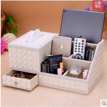 ☜男神閣☞麗然歐式創意皮革桌面收納盒 客廳茶幾紙巾盒遙控器盒餐巾抽紙盒