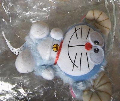 **M8-16** (裸裝無盒)麥當勞出的山羊角的多拉A夢(小叮噹) 絨毛玩偶