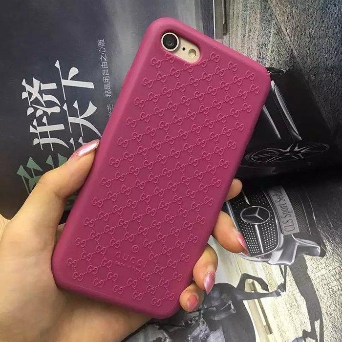 時尚大牌 Gucci 矽膠 雙GG 花紋 iPhone X 8 7 6s plus手機殼 防摔軟殼 i8 plus保護套