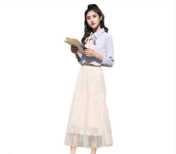 A165 專櫃柔軟3層網紗拼接鬆緊腰修身顯瘦百褶裙蛋糕裙