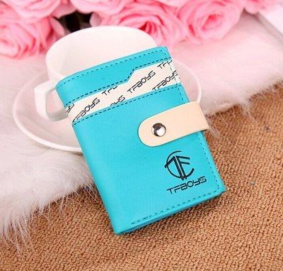TFBOYS同款 錢包 女短款 可爱 學生兩折錢包 少女皮夾 粉色 藍色 玫紅色