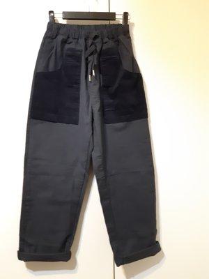 A13韓國衣衣~BONNY~彈性褲/深藍~推