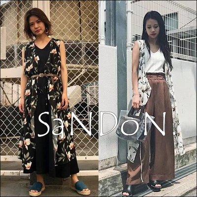 SaNDoN x『moussy』夏季熱賣好搭配 花朵復古色調綁帶無袖 罩衫~正規品 180626
