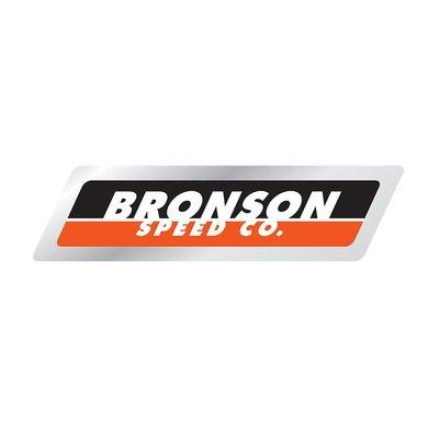 〔Bigforty〕Bronson - Strip Logo Foil Sticker 滑板品牌 貼紙