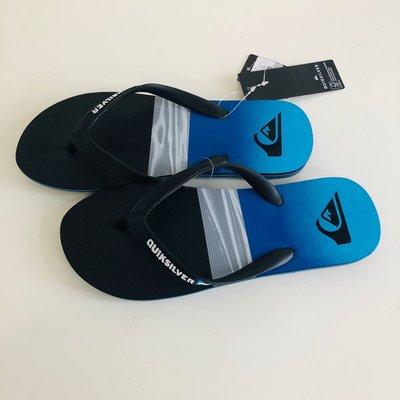 《現貨》QUIKSILVER 澳洲 男生 海灘拖鞋 US8(MOLOKAI HOLD DOWN 人字夾腳拖鞋-藍色)