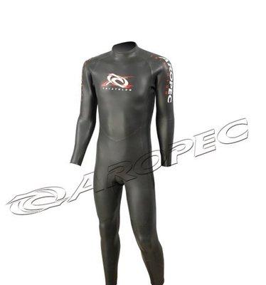 AROPEC3/2mm 超彈性亮皮三鐵長袖長褲防寒衣(男款) 禦寒跑步/游泳/單車