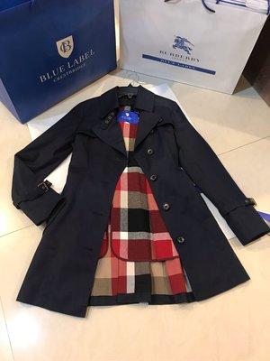 Blue label crestbridge 秋冬 單排扣(羊毛內可拆式內裏)中長版風衣
