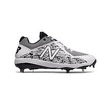 New Balance NB L4040PW4 2E 寬版 棒壘球鞋 鐵釘 白灰黑/迷彩