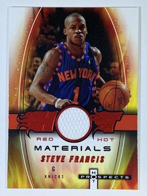 2006-07 Fleer Hot Prospects Red Hot Steve Francis Jersey /25