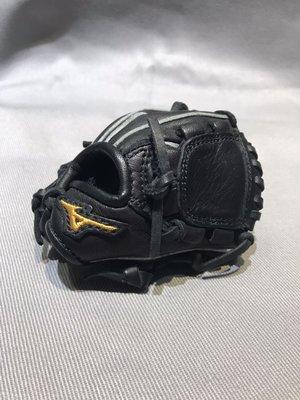 棒球世界 全新美津濃 MIZUNO 迷你投手手套 掌心火鳥鋼印 全牛皮製成 吊飾 鑰匙圈特價黑色