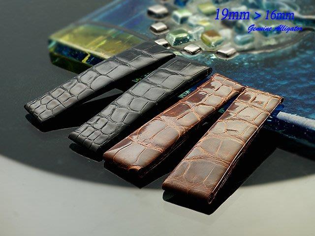 【時間探索】 全新 Rolex Cellini Prince 特仕款純正鱷魚皮錶帶 ( 19mm )