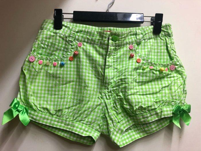 why and 1/2綠色格子短褲13號