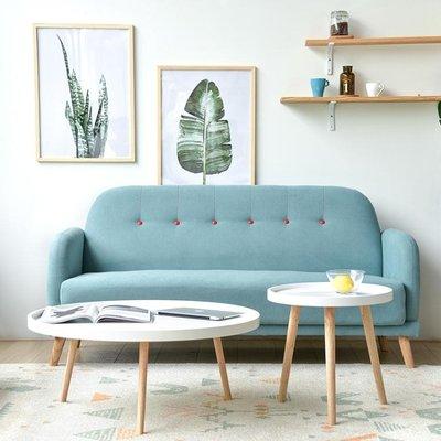 沙發 北歐時尚布藝三人單人雙人小戶型沙發簡約咖啡廳甜品奶茶店沙發椅ATF