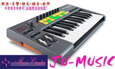 造韻樂器音響- JU-MUSIC - 全新 Novation LaunchKey 25 鍵 電腦 及 iPad 用主控鍵盤