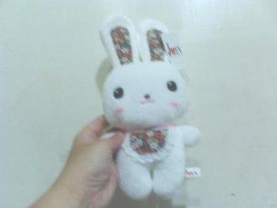 全新可愛圍巾兔子高約18公分