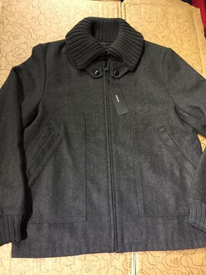 [變身館日本服飾]~MODIFIED~毛料~夾克~外套~立領~日本購入~全新現品~鐵灰色~M