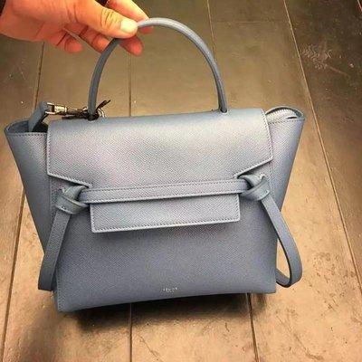 Celine Belt Bag 鯰魚包 Micro Belt Bag 小款24CM 水洗藍