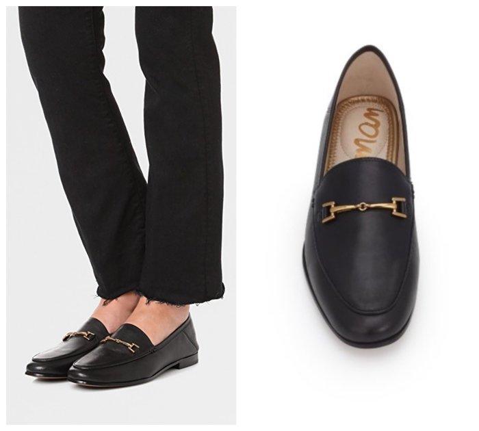 【BJ.GO】Sam Edelman Loraine Bit Loafer 皮革金鍊樂福鞋/草編鞋/穆勒鞋