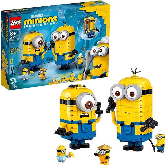 預購 LEGO 樂高 75551 小小兵 凱文與史都華的秘密實驗室 神偷奶爸 盒裝 生日禮 正版
