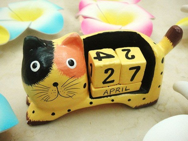 Y【永晴峇里島】巴里島貓咪造型桌曆/吊飾/擺飾/公仔,居家、民宿、飯店都好用-擺飾4