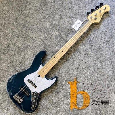 【反拍樂器】Bacchus Bass WJB-330M SOB 貝斯 深藍色 楓木指板 入門最佳選擇