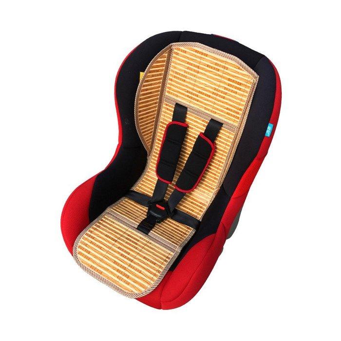 創意 夏季必備寢具通用兒童汽車安全座椅涼席坐墊 嬰兒座椅竹涼席寶寶餐椅藤席墊子
