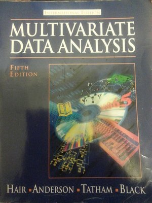 多變數資料分析 第五版 原文 multivariate data analyse fifth edition 原文書
