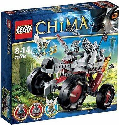 【LEGO樂高】神獸Chima系列/70004 狼勢力Wakz追捕車