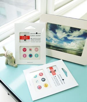 Growlife 種生活▶韓國TAZ-Iphone Home Button Sticker(6入) I Love系列Home鍵手機按鈕貼/按鍵貼/3C配件