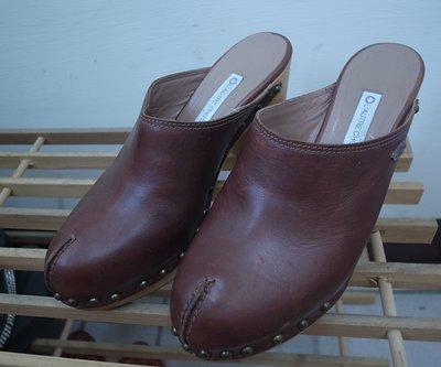 專櫃正品 義大利 OL'AUTRE CHOSE 粗跟包頭涼鞋