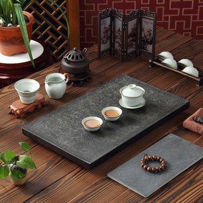 5Cgo【茗道】含稅會員有優惠 26591104196 烏金石茶盤黑金石天然石石頭茶盤茶海茶台茶船素雅款長50*30cm