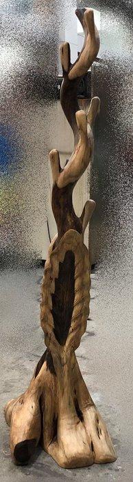 台中二手家具賣場 推薦 大里宏品全新中古傢俱家電 DA71527*紫檀木吊衣架 原木吊衣桿*仿古家具 雕刻藝品 書法字畫