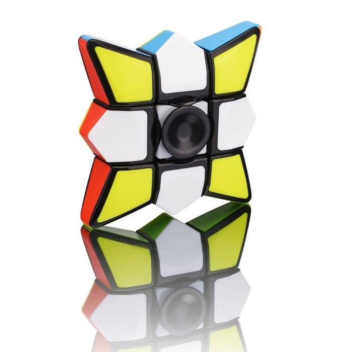 【阿LIN】902446 FX7713陀螺 魔方指尖陀螺 魔術方塊 手指魔方 二合一 益智玩具 舒壓