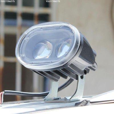 【可開發票】電動車LED燈12V摩托車超亮射燈LED改裝防水鷹眼遠光燈48V60V包郵[機車燈]