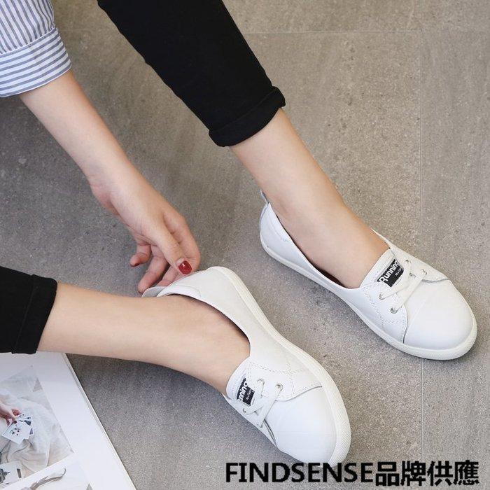 FINDSENSE品牌 四季款 新款 日本 女 高品質 清新 學院風  舒適透氣 小白鞋 休閒鞋  潮流鞋子