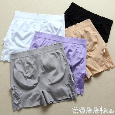安全褲女 打底褲女內外穿薄款大碼三分保險褲蕾絲安全褲防走光大碼胖mm短褲